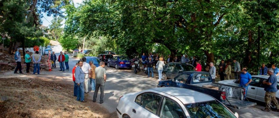 Διαμαρτυρία στο Κεφαλόβρυσο ενάντια στην κοπή δένδρων