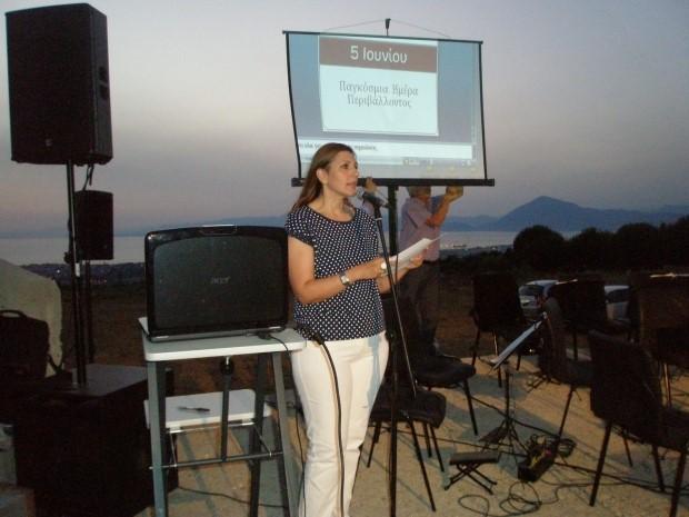 Εισήγηση  για την Παγκόσμια Ημέρα Περιβάλλοντος από τη ΓΓ του Συλλόγου, Φιλόλογο, κα.Γεωργία Γκοτσοπούλου στο Θεατράκι της Κρήνης στις 14/6/15